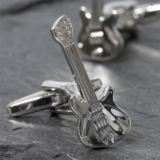 Personalised Retro Electric Guitar Cufflinks