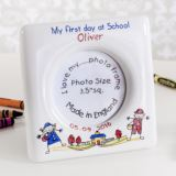 Personalised First Day At School Heron China Photo Frame