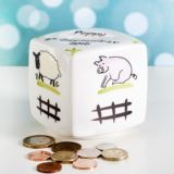 Personalised Heron China Down On The Farm Money Box