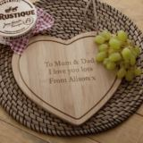Personalised Heart Shaped Cheeseboard
