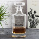 Personalised Emporium Square Glass Decanter