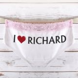 Personalised I Heart Ladies Hipster Briefs