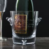 Personalised Bubble Base Crystal Ice Bucket