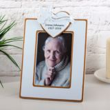 Personalised In Our Hearts Forever Dove & Heart Photo Frame