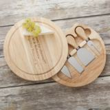 Personalised Wooden Cheese Knife Set with Cheeseboard
