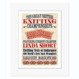 Great British Knitting Champion - Personalised Vintage Print