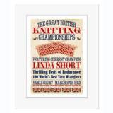 Great British Knitting Champion - Personalised Vintage Print