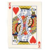 King Of Hearts Playing Card Tea Towel