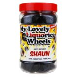 Personalised Liquorice Wheels! Sweet Jar