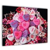 Personalised Poster Love Hearts Design -