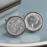 Lucky Sixpence Personalised Cufflinks