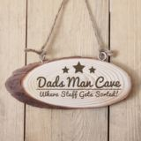 Personalised Man Cave Wooden Hanging Plaque