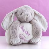 Cream Cuddly Rabbit With Personalised Embroidered Blanket