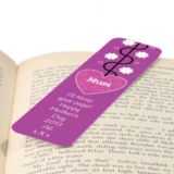 Mother's Day Personalised Bookmark