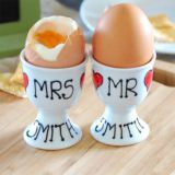 Personalised Pair of Mr & Mrs Egg Cups