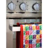 Multicoloured Postage Stamp Oven Gloves