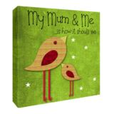 My Mummy and Me Personalised Canvas Print