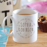 Personalised Name Mug With Floral Detail