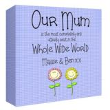 Our Mum Personalised Canvas Print
