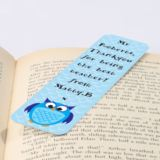 Personalised Blue Owl Bookmark