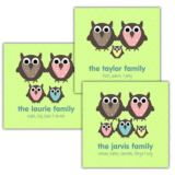 Owl Family Personalised Canvas Print