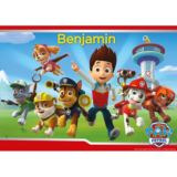 Personalised PAW Patrol Placemat