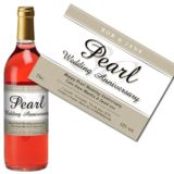 Personalised Pearl Wedding Anniversary Rose Wine