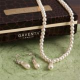 Pearl Necklace and Earring Set in Personalised Gift Box