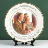 Personalised Pearl Wedding Anniversary Photo Plate