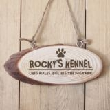 Personalised Dog Kennel Wooden Hanging Plaque