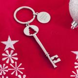 Personalised Shiny Christmas Tree Santa Key