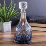Royal Brierley Luxury Cut Crystal Harris Ink Blue Spirit Decanter