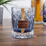Royal Brierley Cut Crystal Harris Ink Blue Whisky Tumbler