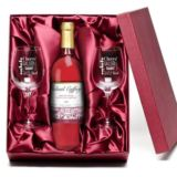 Rose Wine & Personalised Glasses Set