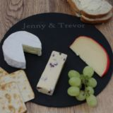 Personalised Round Slate Cheese Board
