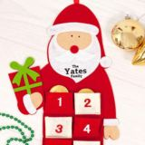 Personalised Embroidered Santa Advent Calendar