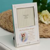 Silver Plated Guardian Angel Photo Frame
