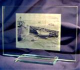 Large Photo Engraved Glass Block