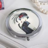 Personalised Flapper Girl Compact Mirror