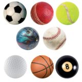 Sports Balls Beer Matt Style Coasters