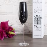 Personalised Dartington Noir Glitz Single Champagne Flute