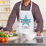 Personalised Blue Star Baker Apron
