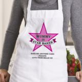 Personalised Pink Star Baker Apron