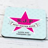 Personalised Star Design Coaster