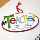 Personalised Teacher Hanging Ornament