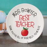 Personalised Best Teacher Plate
