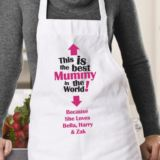 The Best Mummy in the World Personalised Apron