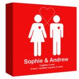 Together Forever Personalised Canvas Print