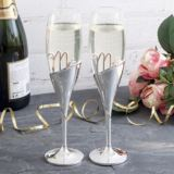 Personalised Mr & Mrs Amore 3D Lettering Champagne Flutes