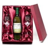 White Wine and Personalised Glasses Set